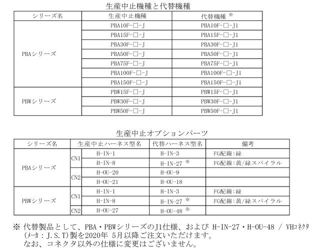 COSEL コーセル PBAシリーズJ中止品コネクタタイプ